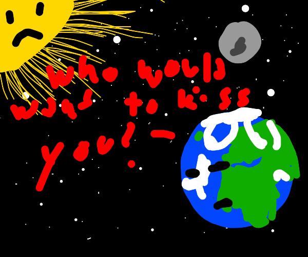 The sun wants a kiss