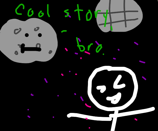 Asteroid watches dude doing disco