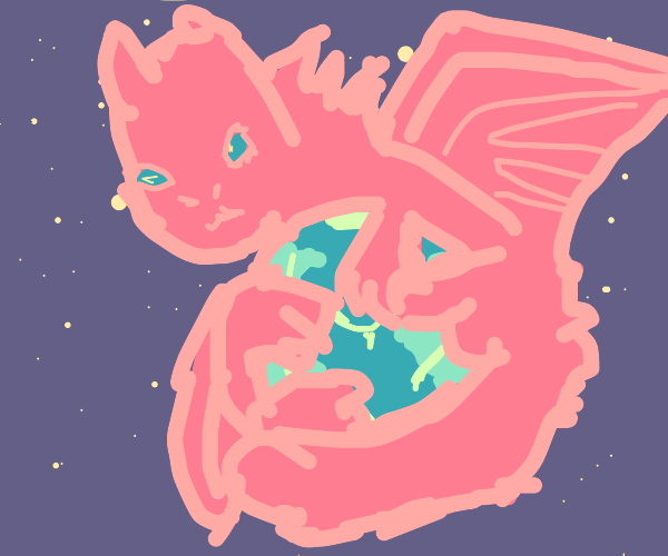 Dragon in space