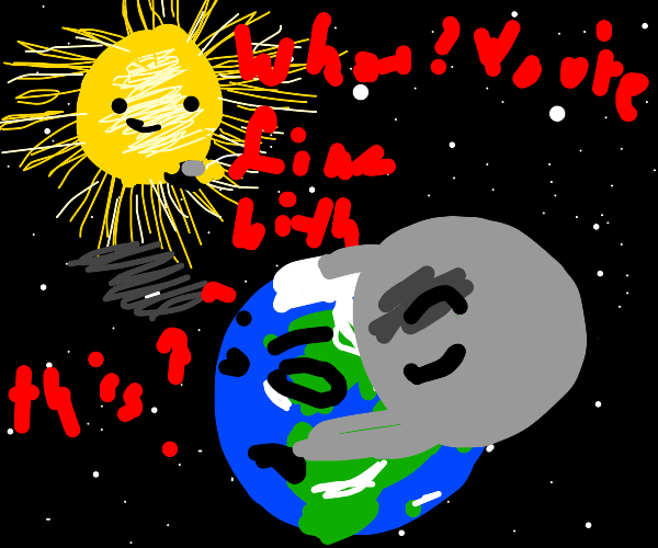 Sun is impressed by buff Moon