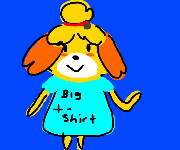 isabelle (acnh) loves oversized t-shirts!