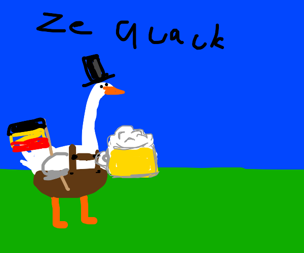 German Goose with a hat