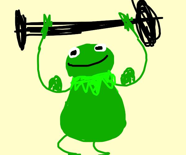 Kermit tries to lift