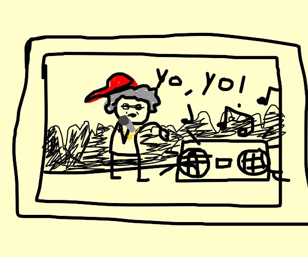 A rapping grandma on TV