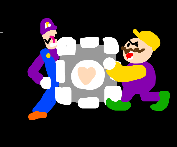 portal 2: wario and waluigi