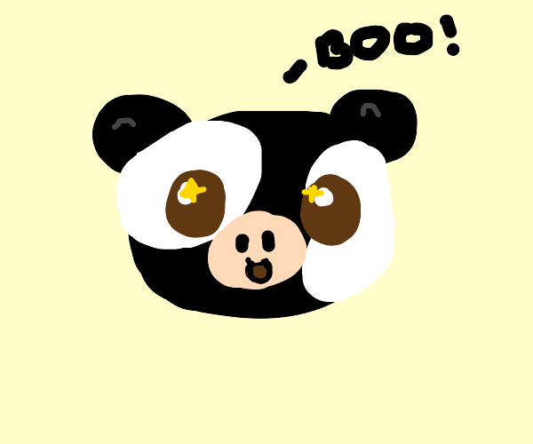 An unthreatening cow says BOO.