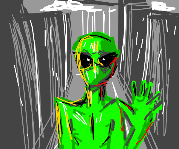 Alien at the city