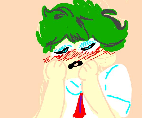 deku is blushing :0