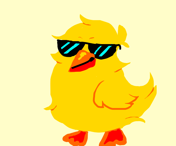 Cool chick with shades