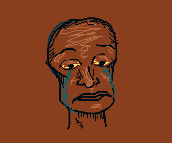 a crying man