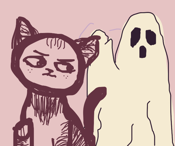 Cat doesn't click with ghost