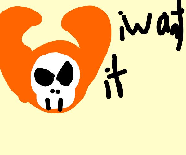 Orange disembodied head demon wants it