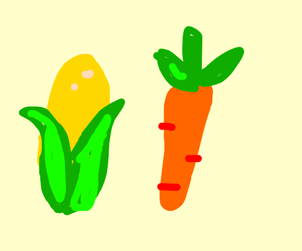 Corn and carrot