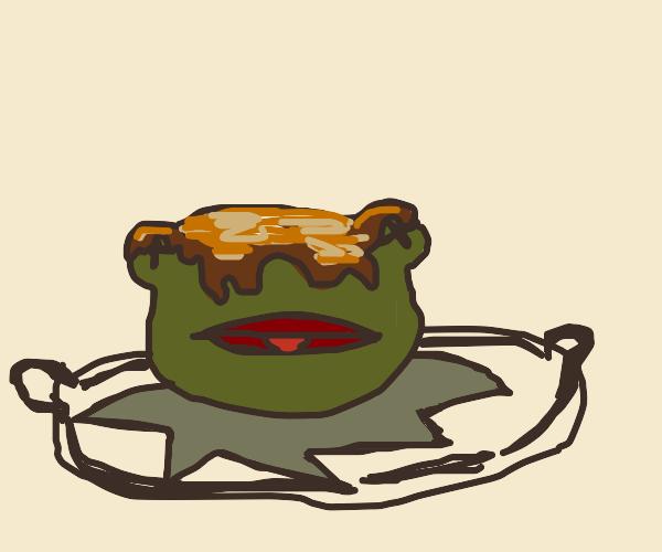 Kermit Cooked On Platter Like Turkey