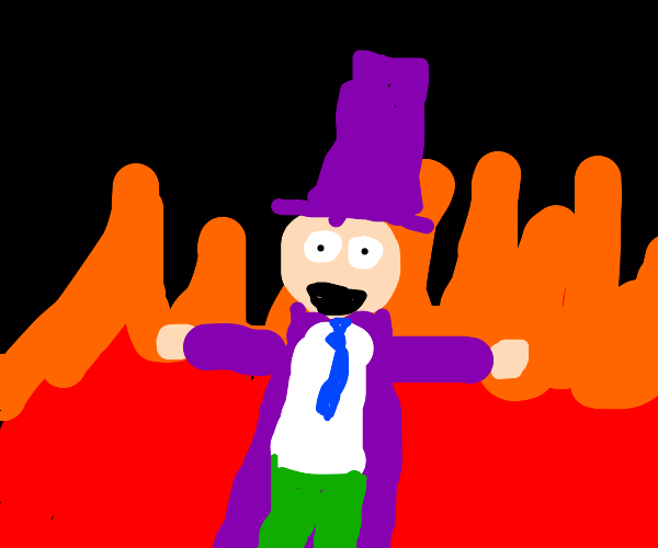 Willy Wonka elmo laughs as the world burns
