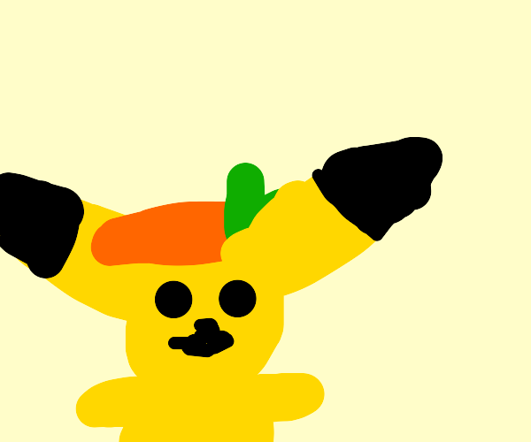 Pokemon with carrot on head