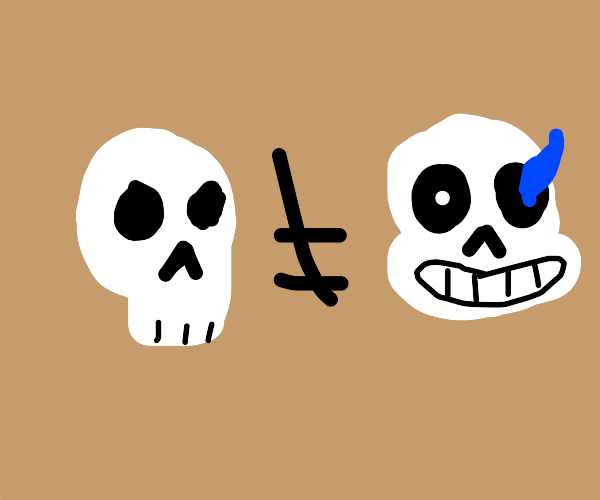 Not all skeletons are sans