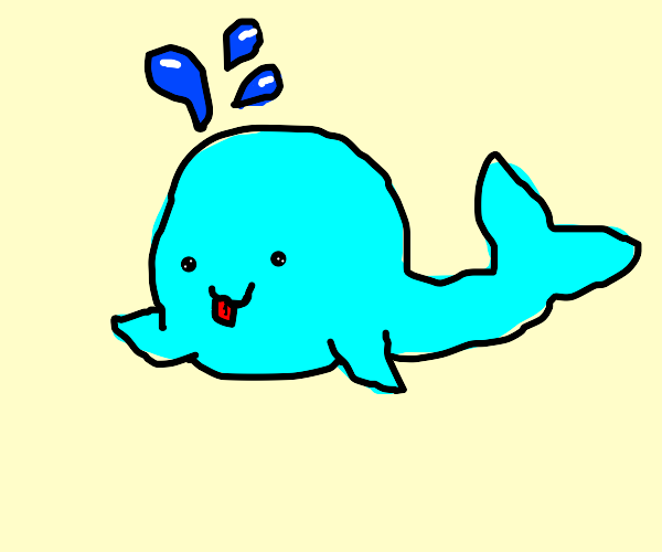 Silly Blue Whale