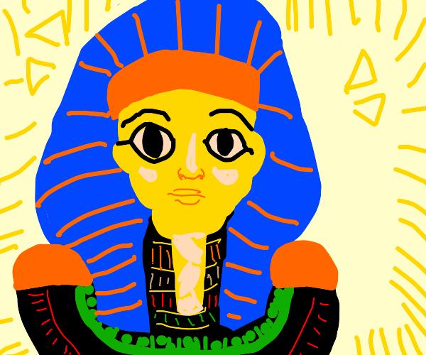 Pharaoh statue.