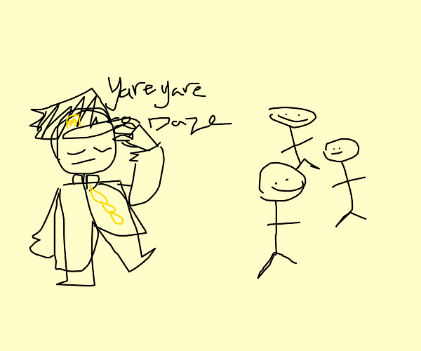 Jotaro and stickmen