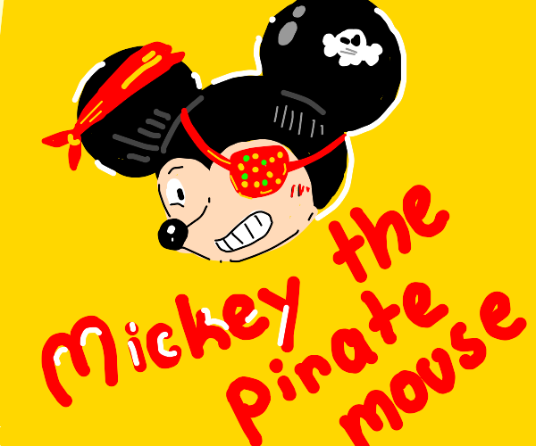 Mickey Mouse with one eye