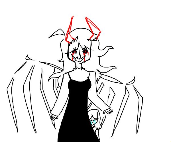 Attractive demon mother