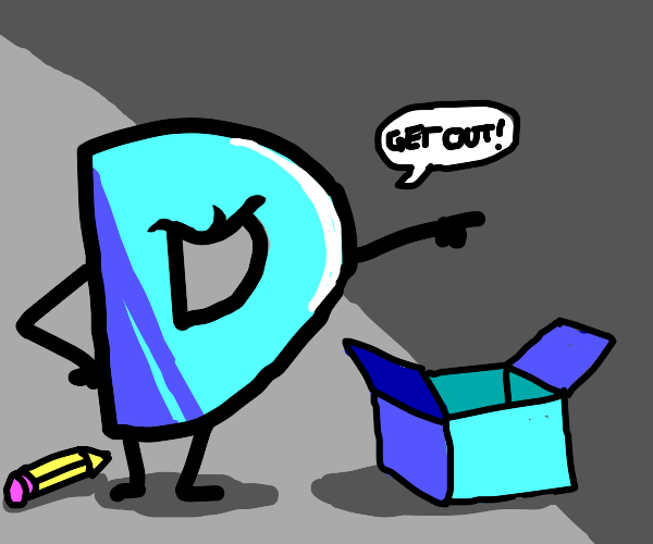 drawception d tells blue box to get out