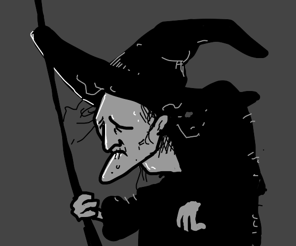 Sad witch