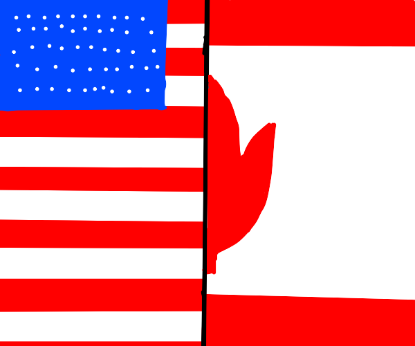 flag of canada and america