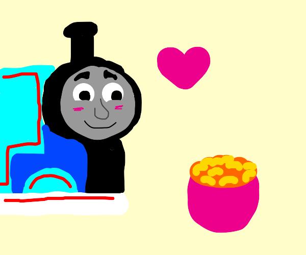 Thomas loves macaroni