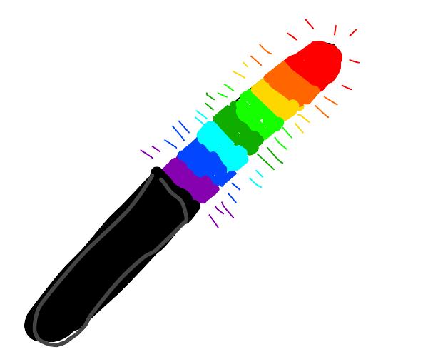 epic rainbow lightsaber