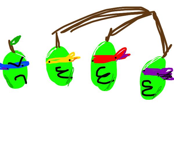 the teenage mutant ninja green grapes