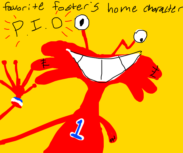 favorite foster's home character P.I.O.