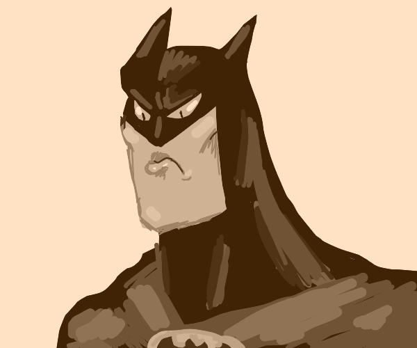 Pouting Batman