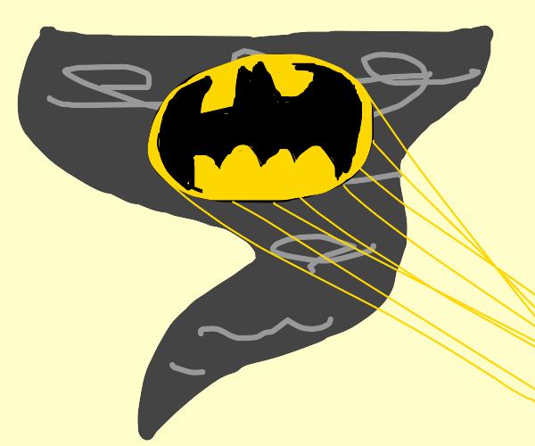 Batman in a tornado
