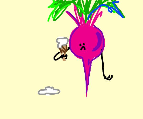 beet drops his ice cream