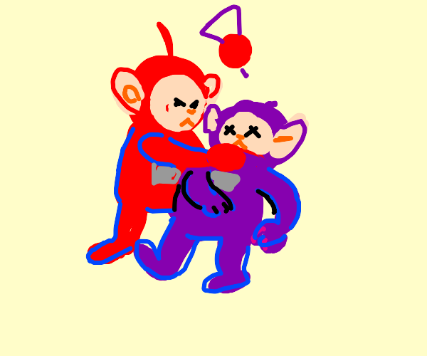 Po murders Tinky, ripping off purple antenna