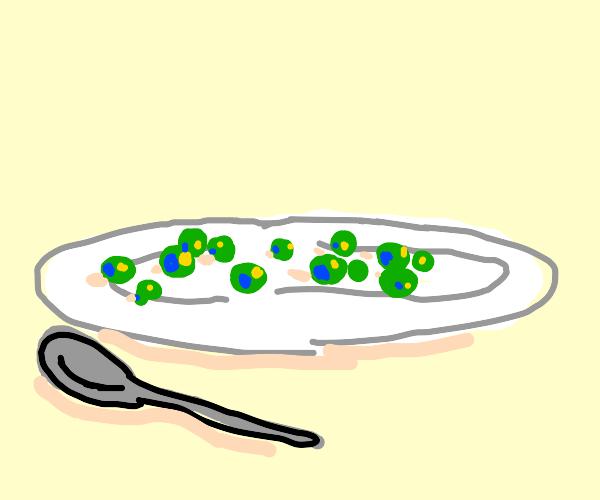 Plate full of peas
