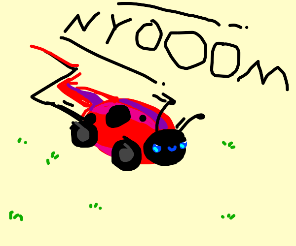 Ladybug with wheels