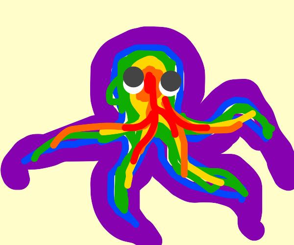 cute rainbow octopus