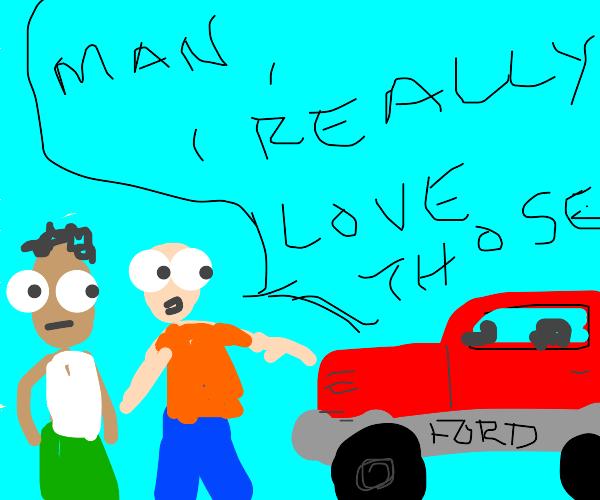 Guy loves Fords