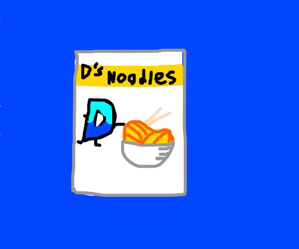 Drawception-branded noodles
