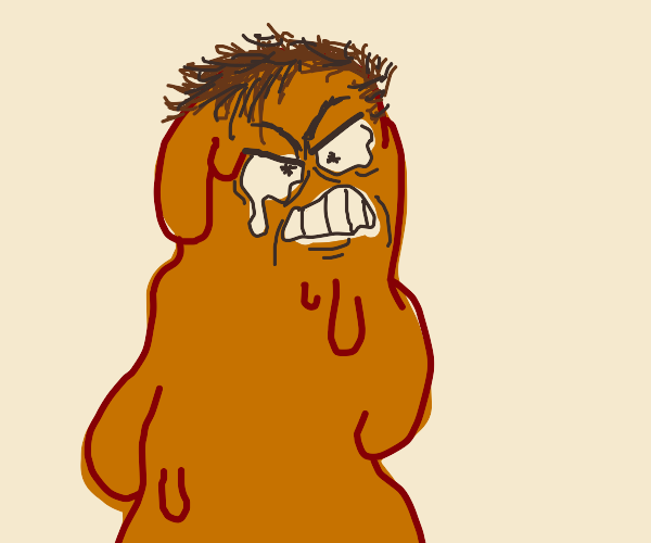 angry wet drippy man