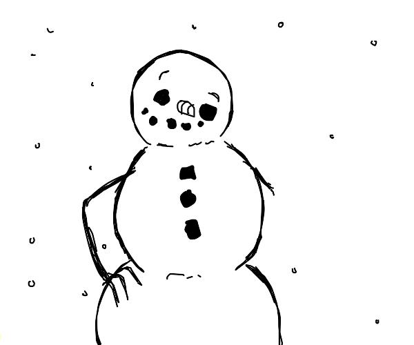 happy derpy snowman amputee