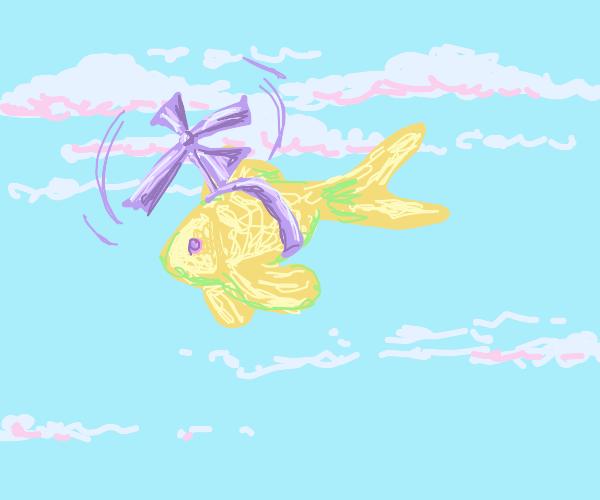 flying goldfish