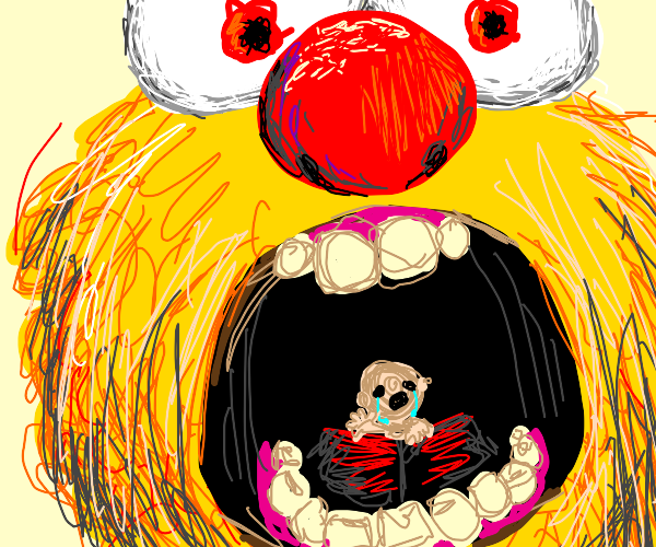Yellmo eats a baby