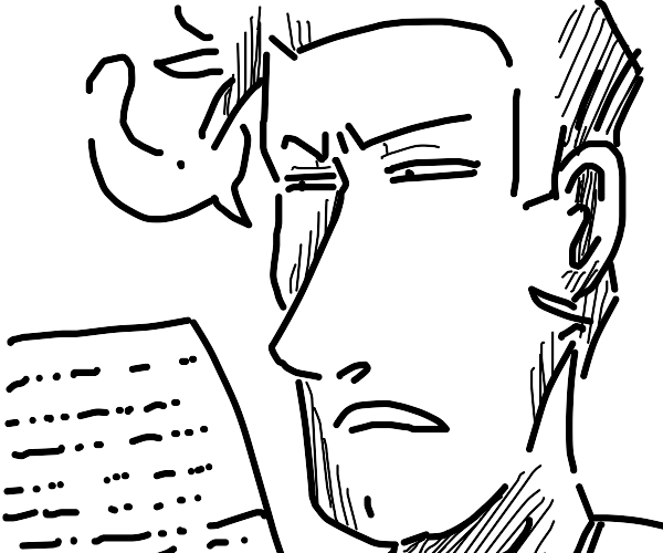 man confused at undecipherable morse code
