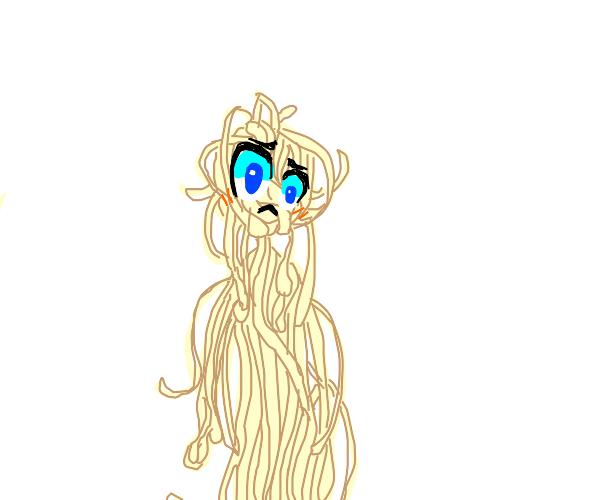 Spaghetti human person