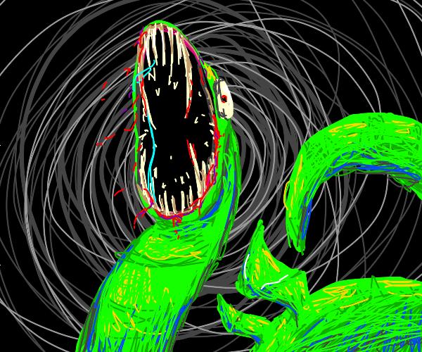 Terrifying snake/dragon mashup.