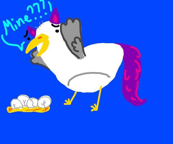 Seagull furry dropping eggs (Last panel PFP)